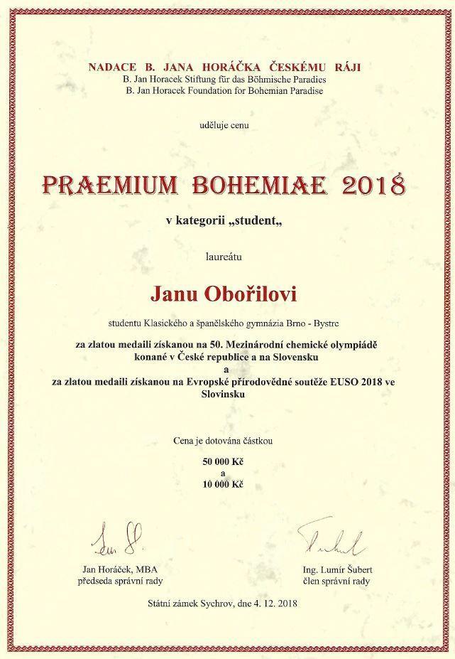 praemiumBohemiae2018