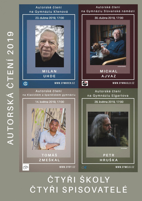 Čtyři školy, čtyři spisovatelé – autorská čtení 2019